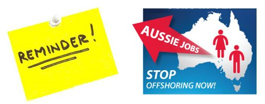 Reminder Off shoring petition