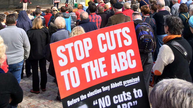 stops cuts to the ABC