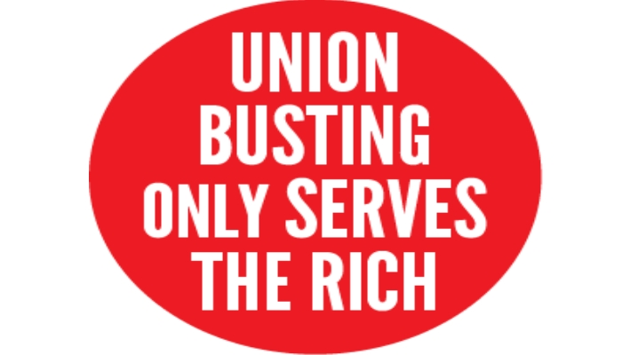 union busting only serves the rich